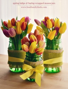 Spring-Tulips-with-Burlap-Wrapped-Mason-Jars-for-a-Spring-Centerpiece