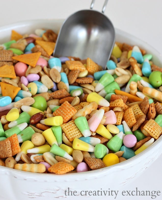 Sweet-and-Salty-Spring-Snack-Mix-Easter-candy-corn-mms-cheddar-chex-mix-The-Creativity-Exchange